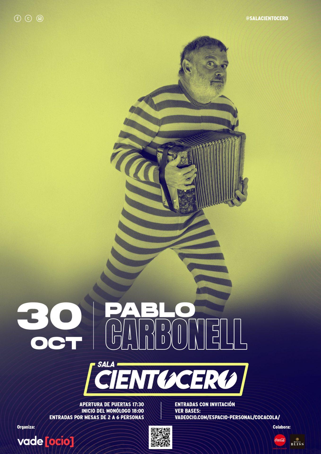 Pablo Carbonell en Sala Cientocero